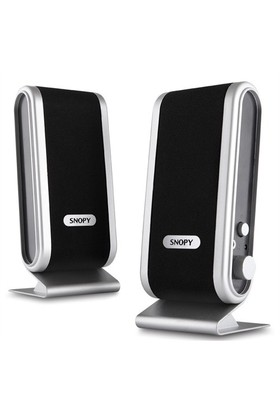 Snopy SN-820 2.0 Siyah/Gümüş Usb Lcd İnce Tasarım Speaker (757)