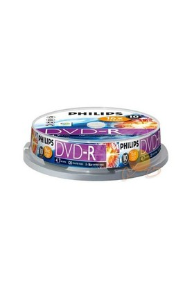 Philips 16X 4.7GB 10'Lu Cakebox DVD-R DM4S6B10F-00