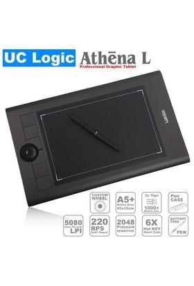 UC Logic Lapazz Athena L A5+ Pilsiz Kalemli Profesyonel 5080LPI Grafik Tablet (UCMNA62)