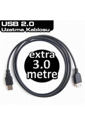 Dark USB2.0 3m Uzatma Kablosu (DK-CB-USB2EXTL300)
