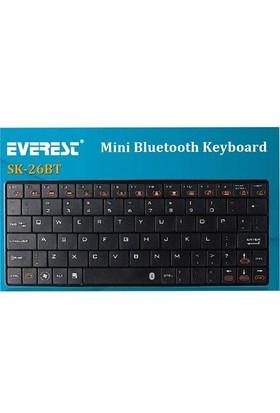 Everest Kb-Bt026 Beyaz Bluetooth Q Kablosuz Klavye