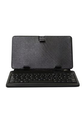 "Everest KB-12 USB 9.7"" Siyah Klavyeli Tablet Kılıfı + Addison ALS-PAD10 9,7"" Stand"