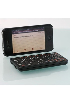 Techsmart Bt-Kb6761 Mini Bluetooth Klavye - Siyah