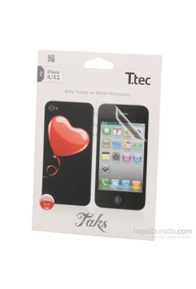Ttec Iphone 4-4S Desenli Arka Yüzey Ve Ekran Koruy