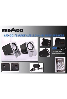 Mikado Md-20 2.0 3 Port Usb+Sd+Ms+M.Sd Kart Oku Speaker