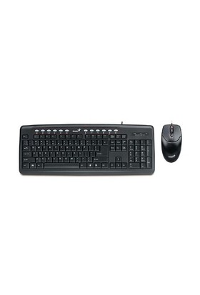 Genius KM 220 Kablolu Siyah Klavye Mouse Set (KL GENIUS KM-220)