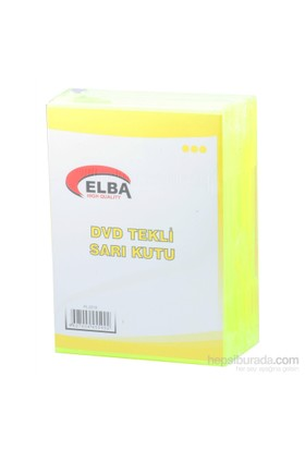 Elba Pl-221S Tekli Sarı Renkli Standart Dvd Kutusu