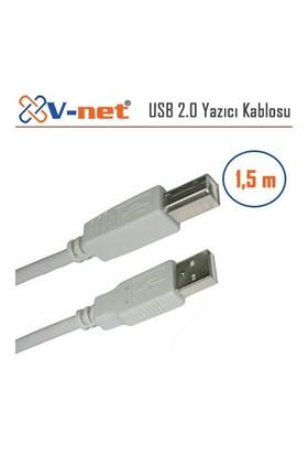 V-Net USB 2.0 AM/BM 1.5m Yazıcı Kablosu