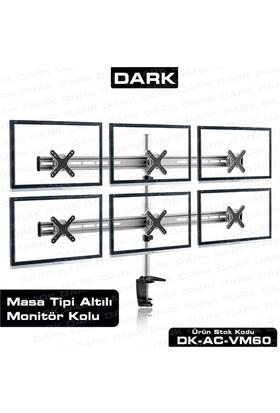Dark 6 Adet Dikey Monitör Takılabilen, Masa Monte Monitör Kolu (DK-AC-VM60)