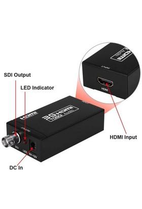 Qpars Ay31 3G Hdmi To Sdi Hdmi Sdı Çevirici Dönüştürücü Converter Video + Se