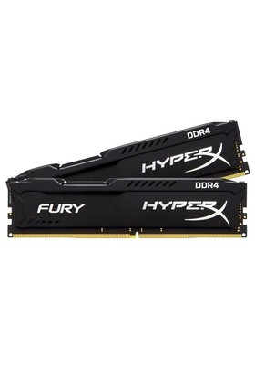 Kingston HyperX Fury Black 8GB(2x4GB) 2666MHz DDR4 Ram HX426C15FBK2/8