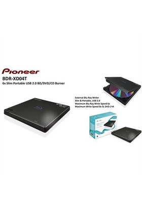 Pioneer Bdr-Xd04t (Bdcsf6) 6X Blu-Ray Harici Optik Yazıcı