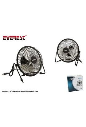 Everest Efn-487 6` Masaüstü Metal Siyah Usb Fan