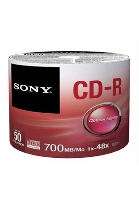 Sony CD-R 700MB 80 Dakika 50'li Spindle