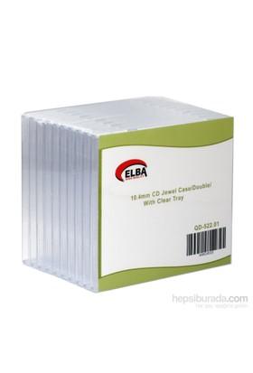 Elba Qd-522.01 2Li Şeffaf 10.4Mm Cd Jewel Case