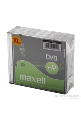Dvd+R 10Lu Maxell İnce Kutulu 4.7Gb 120Mın 16X