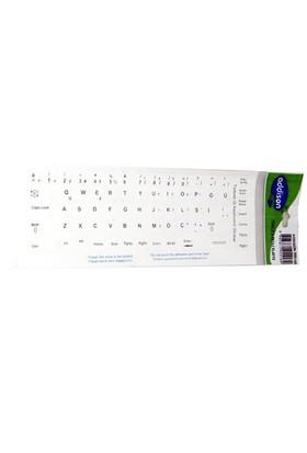 Addison 300165 Türkçe Q Beyaz Klavye Stiker