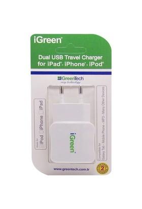 Greentech GT-CC21 2100 mA Dual Şarj Cihazı