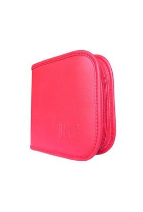 Lizer PLC24-2 24lü Kırmızı Renkli Deri CD Çantası