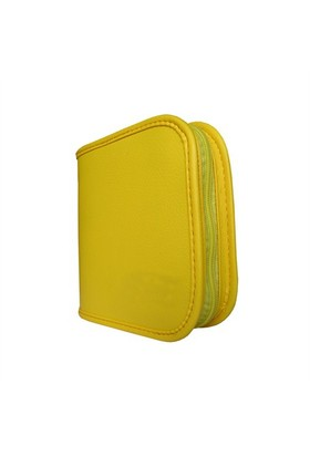 Lizer PLC24-4 24lü Sarı Renkli Deri CD Çantası