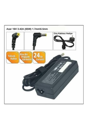 Versatil Acer 19V-3.42A (5.5*1.7) Notebook Adaptörü Şarj Aleti
