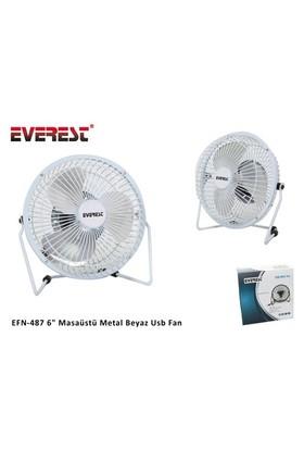 Everest Efn-487 6` Masaüstü Metal Beyaz Usb Fan