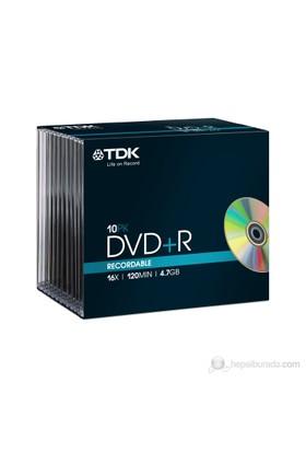 TDK DVD+R 16x 4.7GB 10 lu ince kutu