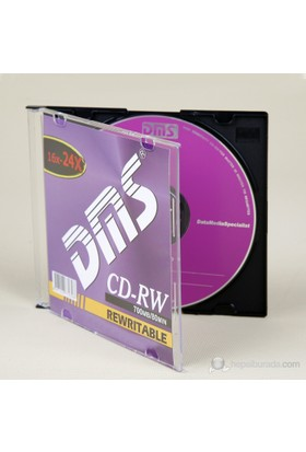 DMS CD-RW 16X-24X 700MB Tekli Kutulu 10DMS207P1