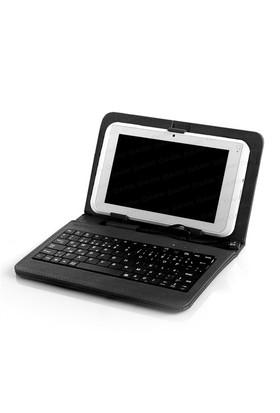 """Dark 9"""" Türkçe Klavyeli USB Stand Deri Tablet Kılıf ve Stand (DK-AC-TBKB901)"""
