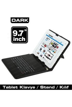 Dark 9.7'' Micro Usb+USB Klavyeli Deri Siyah Tablet Kılıfı