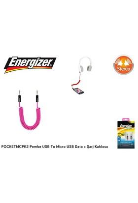 Energizer Pocketmcpk2 Pembe Usb To Micro Usb Data + Şarj Kablosu