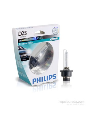 Philips D2S X-Treme Vision +%50 85V 35W 4800K Ampul Made in Germany