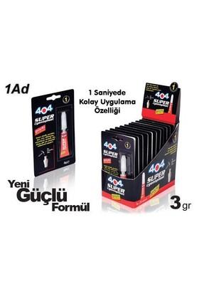 404 Süper Japon Genel Yapıştırıcı 1 Dk Güçlü Yeni Formül 3 Gr