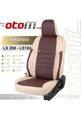 Otom V.W. Crafter 2+1 (3 Kişi) 2007-Sonrası California Design Araca Özel Deri Koltuk Kılıfı Bordo-103