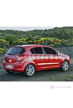 S-Dizayn Opel Corsa D Yan Kapı Çıtası 4 Prç. P.Çelik (2007>)