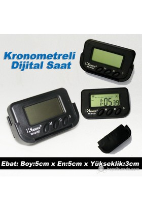 AutoCet Dijital Saat,Alarm,Kronometre Fonksiyonlu(11753)