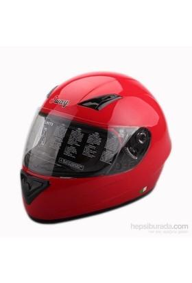 Sway 802 Full Face ECER Sertifikalı Kırmızı Kask