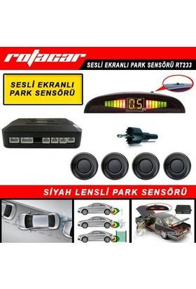 Rotacar Park Sensörü Siyah Lensli Led Ekranlı Rt233