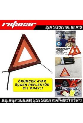 Rotacar Üçgen Reflektör E11 Onaylı Örümcek Ayaklı Urf01