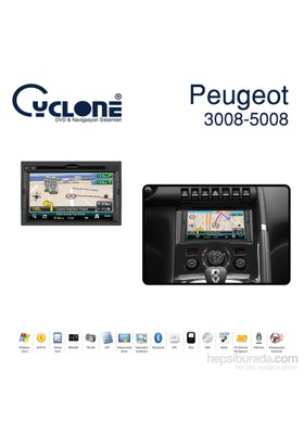Cyclone Peugeot 3008 Dvd Ve Multimedya Sistemi (Orj. Anten ve Kamera Hediyeli)