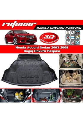 Honda Accord Sedan 2003 2008 Bagaj Havuzu Paspası BG077