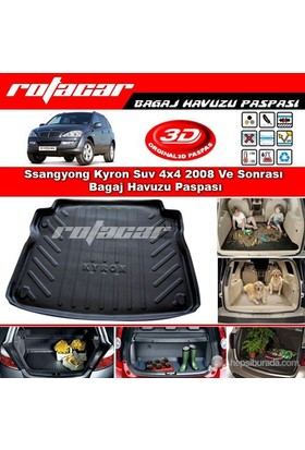 Ssangyong Kyron Suv 4x4 2008 Ve Sonrası Bagaj Havuzu Paspası BG0169
