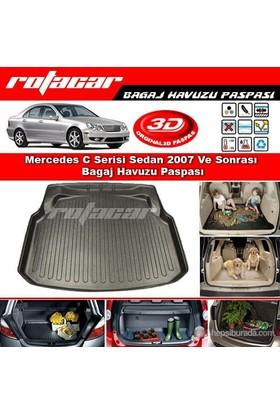 Mercedes C Serisi (W204) 2007-2013 Plastik Setli Bagaj Havuzu Paspası