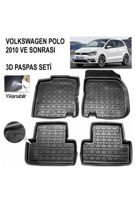 3D Kauçuk Paspas Volkswagen Polo 2013 Ve Sonrası Uyumlu Siyah