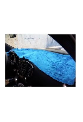 Peluş Örtü Taxi Mavi