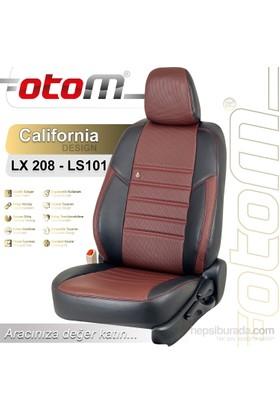 Otom Peugeot 208 2012-Sonrası California Design Araca Özel Deri Koltuk Kılıfı Bordo-110
