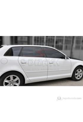S-Dizayn Audi A3 Cam Çıtası 6 Prç. P.Çelik (2004-2012)