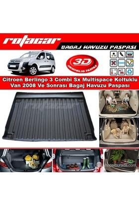 Citroen Berlingo 3 Combi Sx Multispace Koltuklu Van 2008 Ve Sonrası Bagaj Havuzu Paspası BG030