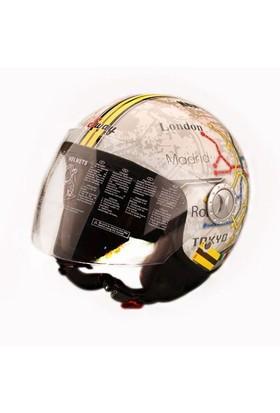 Sway 701 Open Face İtalyan Stil Underground Unisex Kask - 6 Beden