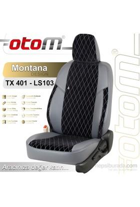Otom Hyundaı Accent Blue 2011-Sonrası Montana Design Araca Özel Deri Koltuk Kılıfı Siyah-104